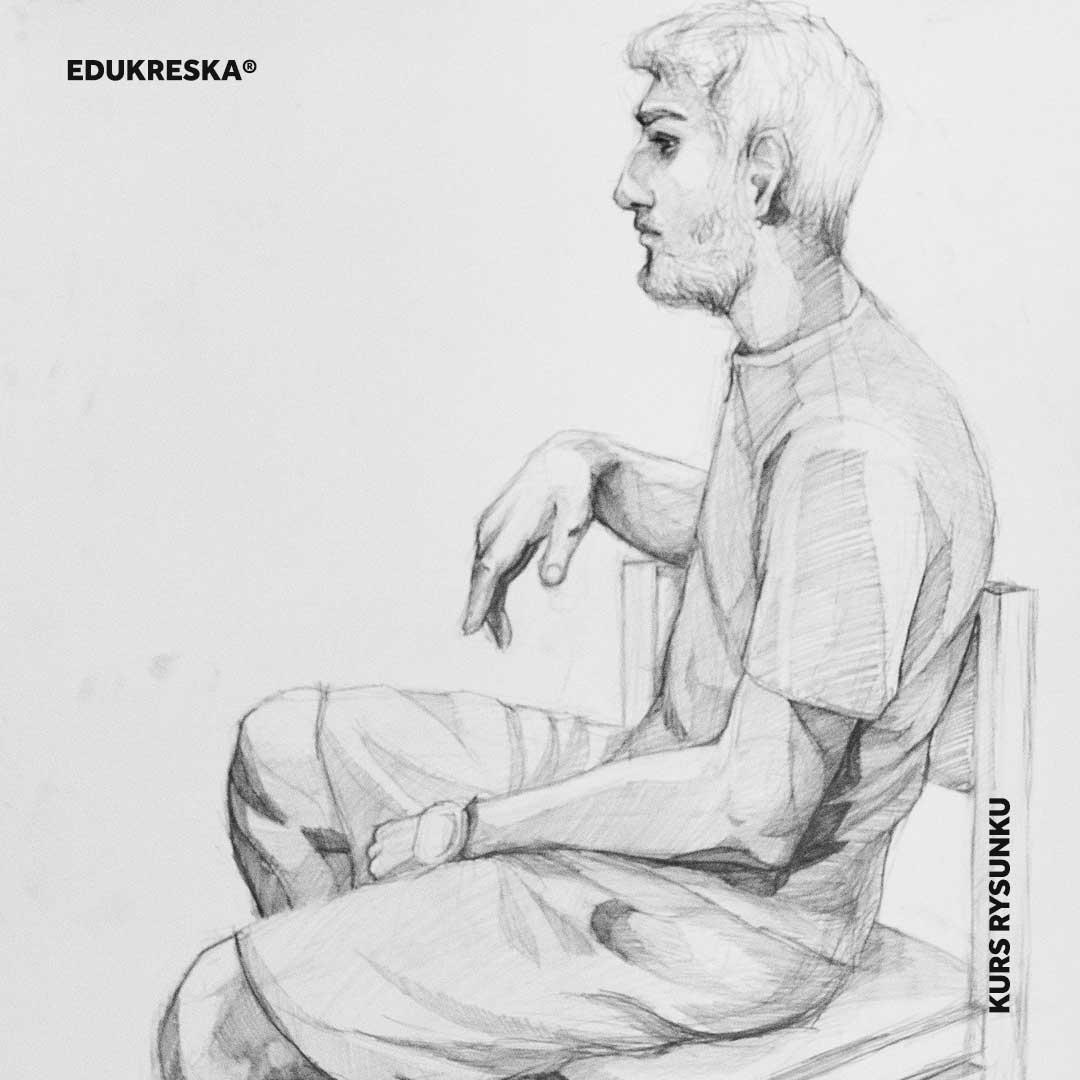 Praca rysunkowa ucznia ze szkoły rysunku w Elblągu