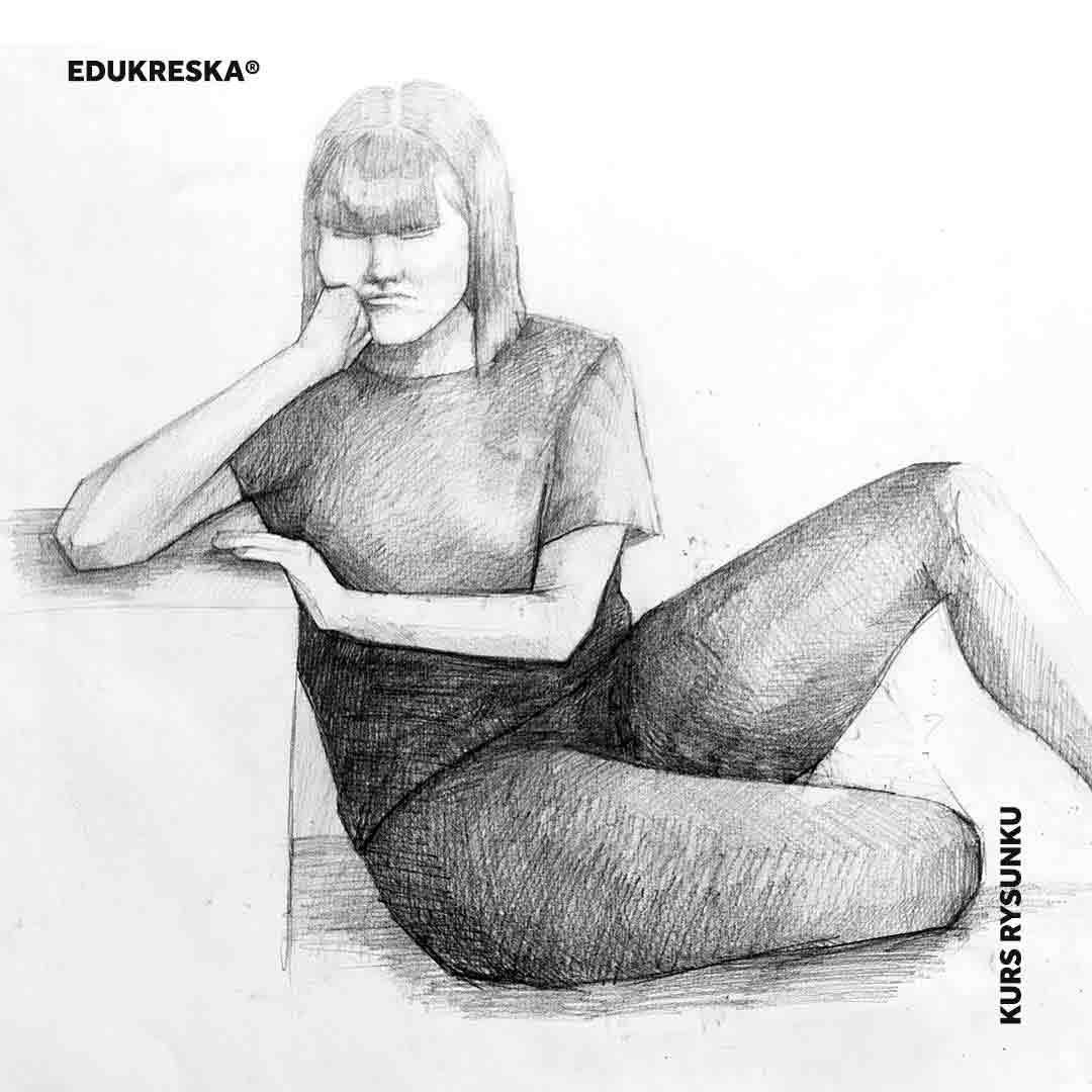 Praca ucznia ze szkoły rysunku w Gdańsku.